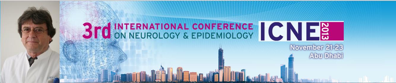 Prof. D. Koempf gives a talk on ICNE2013 3rd international congress on Neurology and Epidemiology