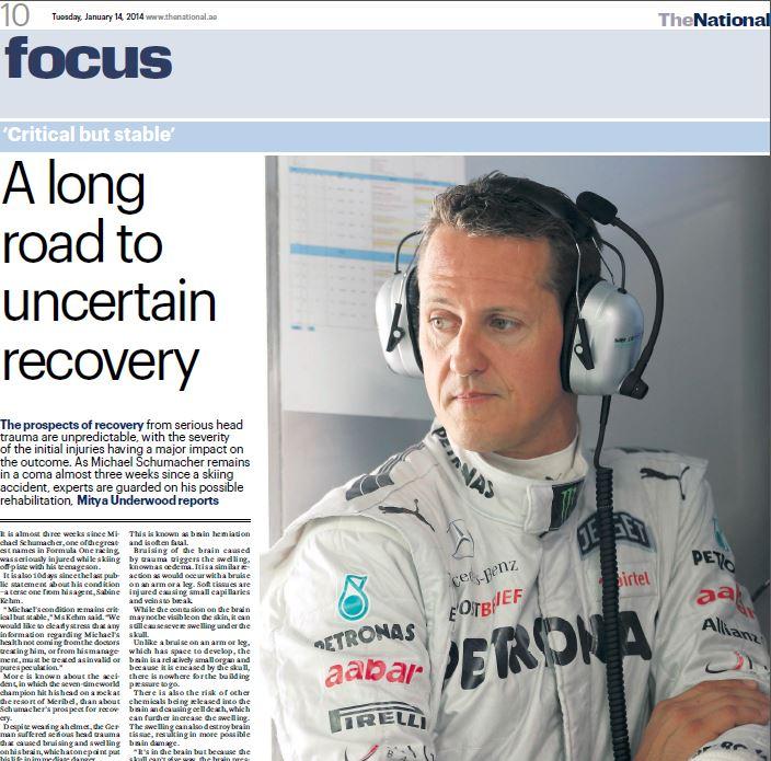 The National: German neurologist in Dubai, Dr Marquardt, speaks about Schumachers accident