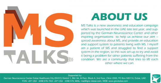 What will my life be like with Multiple Sclerosis? – MS Talks Dubai