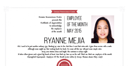 Employee Of The Month May 2015