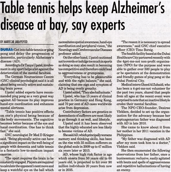 Ping Pong for Alzheimer event