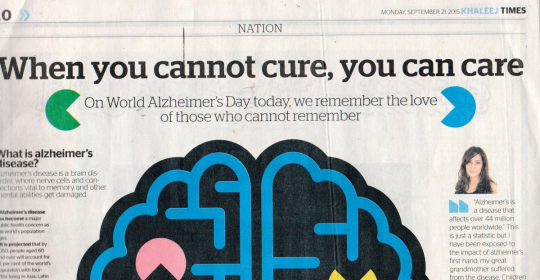 News: Alzheimer Dubai | GNC & forgetmenot raising Awareness