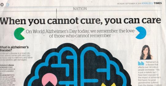 News: Alzheimer Dubai | GNC & forgetmenot raising Awareness