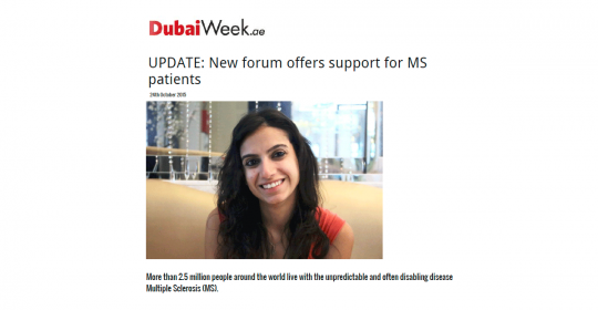 New Multiple Sclerosis Forum Supported By GNC Dubai | feat. in DubaiWeek