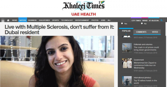Live with Multiple Sclerosis, don't suffer from it: Dubai resident
