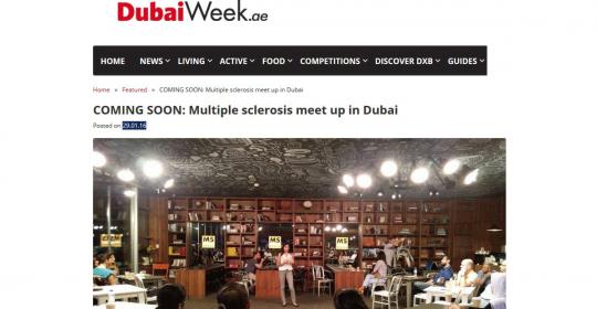 COMING SOON: Multiple sclerosis meet up in Dubai