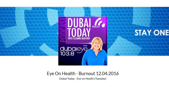 Dubai Eye 103.8 | Dr. Erik Matser |The truth about stress and burnout