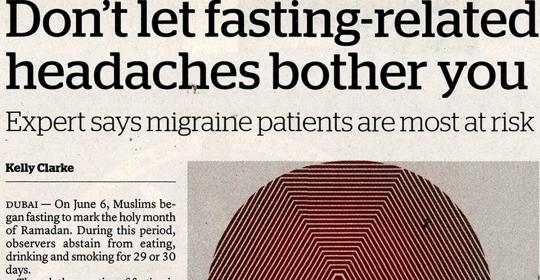 Update on Ramadan or Fasting Headache
