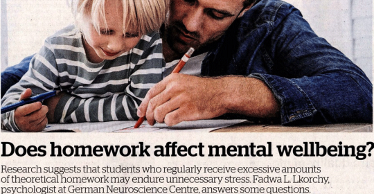 Does homework affect mental wellbeing?