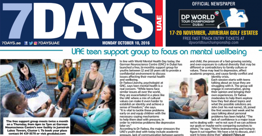 UAE teen support group to focus on mental wellbeing