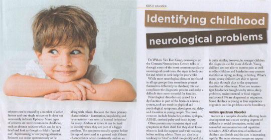 Identifying Childhood Neurological Problems