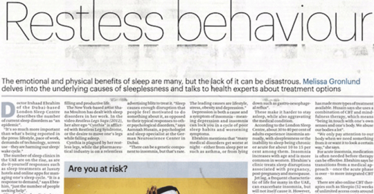 Restless Behavior – Insomnia In The UAE