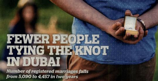 Fewer People Tying The Knot In Dubai