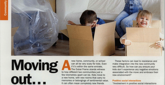Moving with Kids – Psychological Challenges – Time Out Magazine feat Dr. Fabian