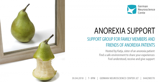 TONIGHT – FREE ANOREXIA SUPPORT GROUP – CALL FOR RESERVATION