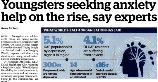 Youngsters Seeking Anxiety Help on The Rise – Dubai Therapist Aamnah Hussain Explains Why – Khaleej Times