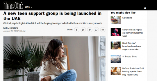 A new teen support group is being launched in the UAE – TimeOut Magazine