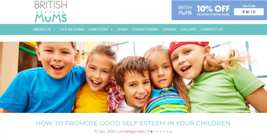 How To Promote Good Self Esteem In Your Children – Dubai Psychologist, Kim Henderson, speaks to British Mums