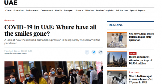 COVID-19 in UAE: Where have all the smiles gone? – Psychologist, Alfred Gulf, explains in Gulf News